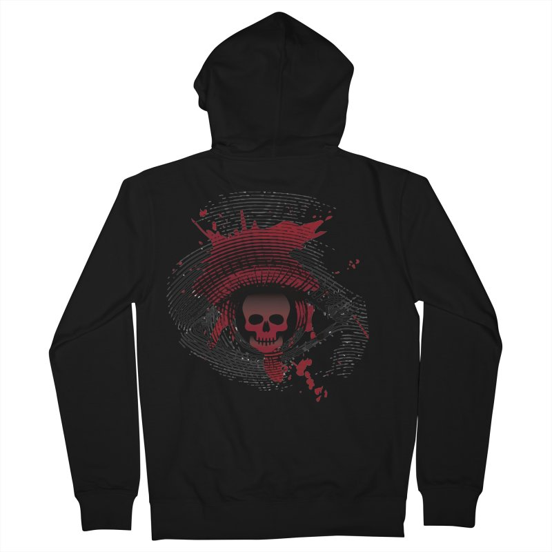 Isolated Blood Shot Eye for an Eye Logo Women's French Terry Zip-Up Hoody by Eye for an Eye Merch Shop
