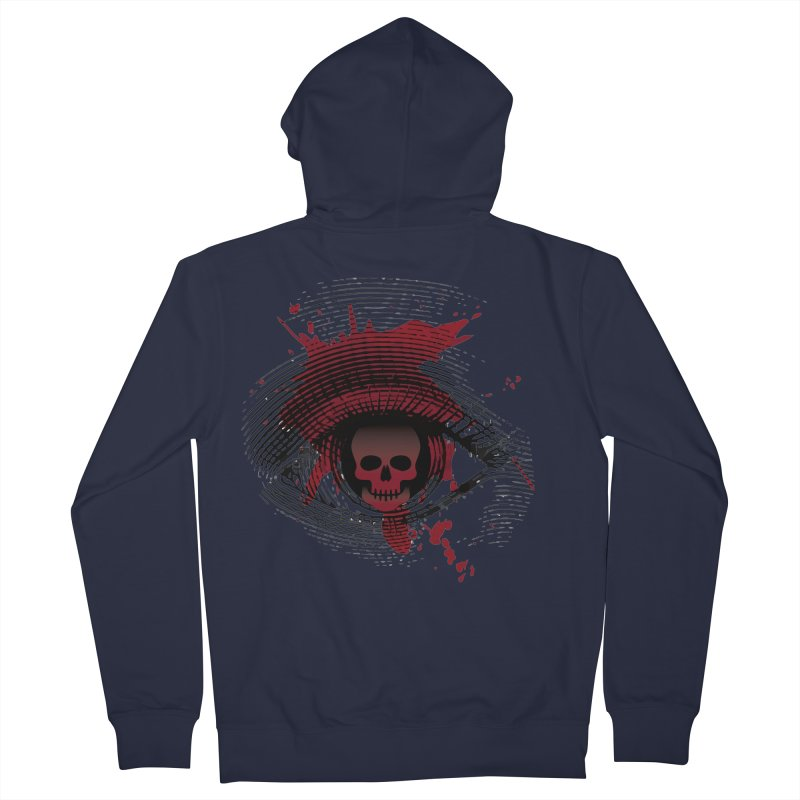 Isolated Blood Shot Eye for an Eye Logo Men's French Terry Zip-Up Hoody by Eye for an Eye Merch Shop