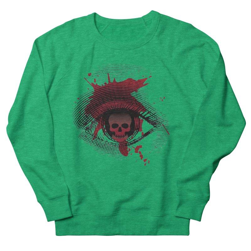 Isolated Blood Shot Eye for an Eye Logo Women's French Terry Sweatshirt by Eye for an Eye Merch Shop