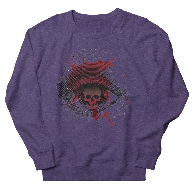 Isolated Blood Shot Eye for an Eye Logo Men's French Terry Sweatshirt by Eye for an Eye Merch Shop