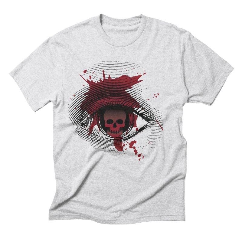 Isolated Blood Shot Eye for an Eye Logo Men's Triblend T-Shirt by Eye for an Eye Merch Shop