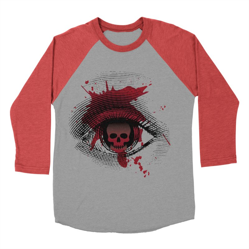 Isolated Blood Shot Eye for an Eye Logo Women's Baseball Triblend Longsleeve T-Shirt by Eye for an Eye Merch Shop