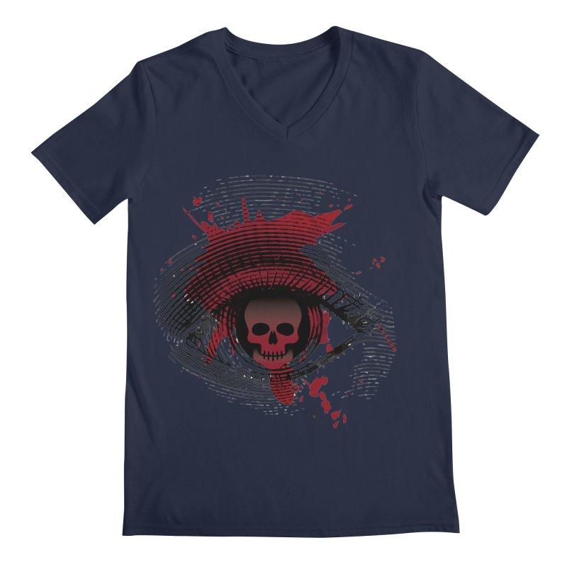 Isolated Blood Shot Eye for an Eye Logo Men's Regular V-Neck by Eye for an Eye Merch Shop