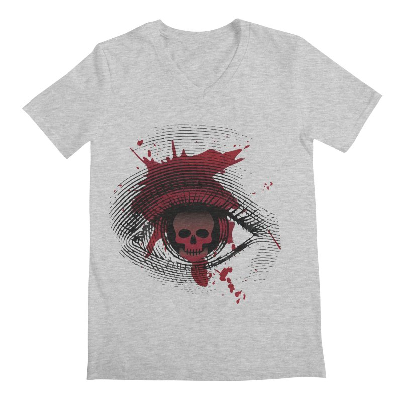 Isolated Blood Shot Eye for an Eye Logo Men's Regular V-Neck by Eye for an Eye Merch Shop