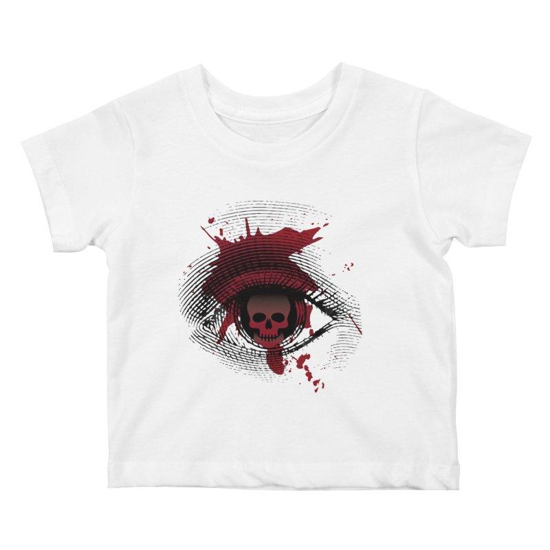 Isolated Blood Shot Eye for an Eye Logo Kids Baby T-Shirt by Eye for an Eye Merch Shop