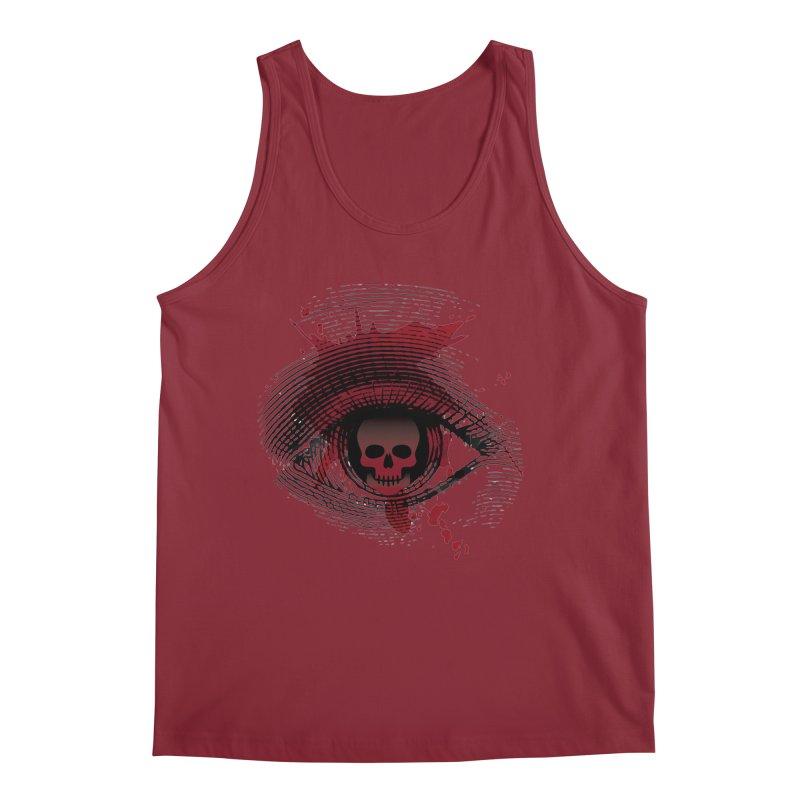 Isolated Blood Shot Eye for an Eye Logo Men's Regular Tank by Eye for an Eye Merch Shop