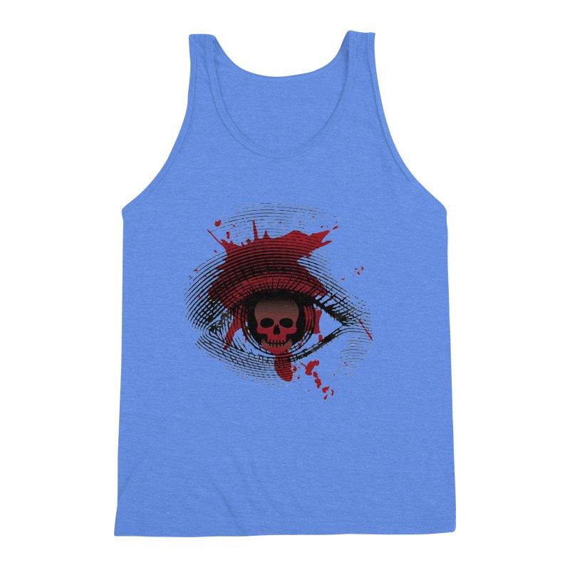 Isolated Blood Shot Eye for an Eye Logo Men's Triblend Tank by Eye for an Eye Merch Shop