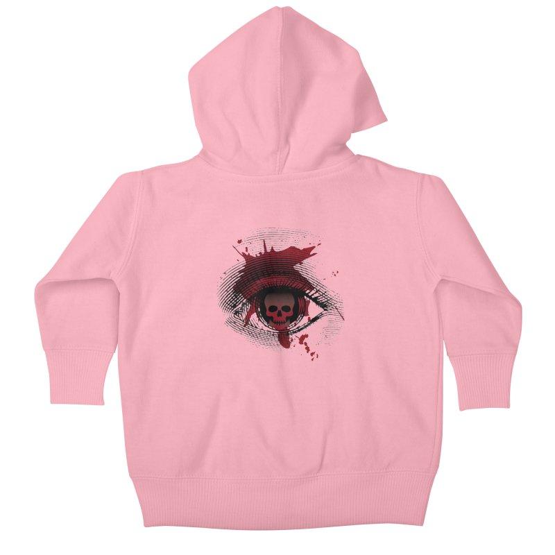 Isolated Blood Shot Eye for an Eye Logo Kids Baby Zip-Up Hoody by Eye for an Eye Merch Shop