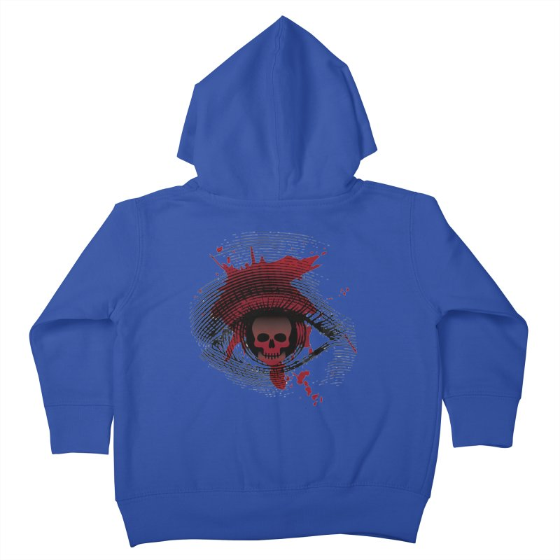 Isolated Blood Shot Eye for an Eye Logo Kids Toddler Zip-Up Hoody by Eye for an Eye Merch Shop