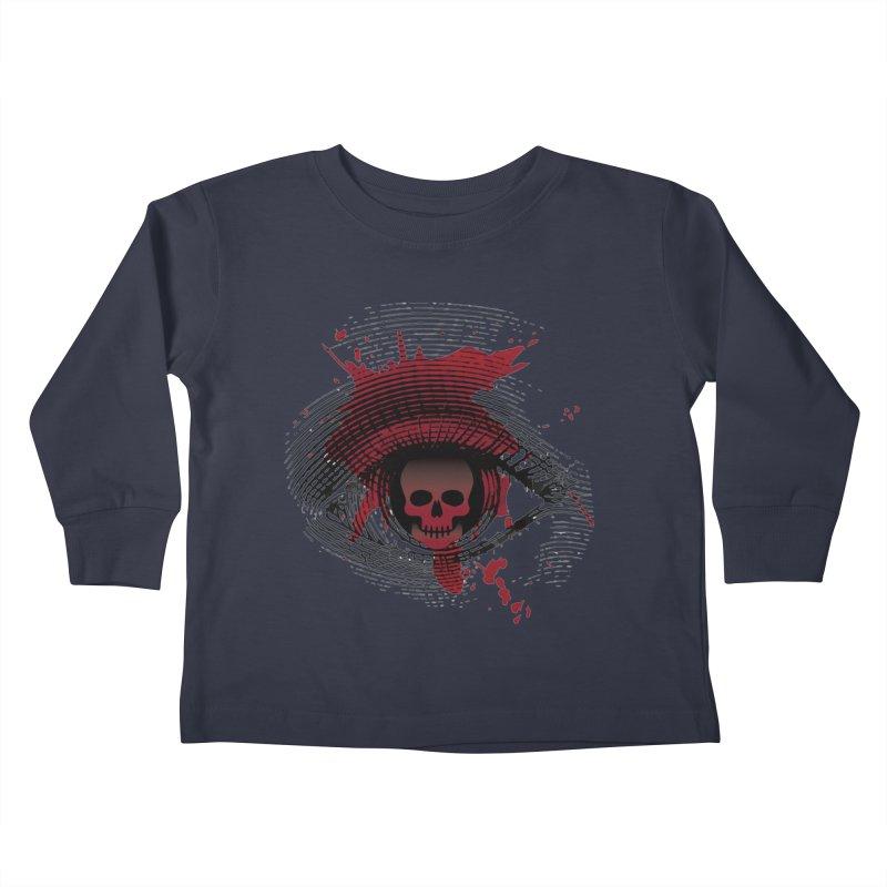 Isolated Blood Shot Eye for an Eye Logo Kids Toddler Longsleeve T-Shirt by Eye for an Eye Merch Shop