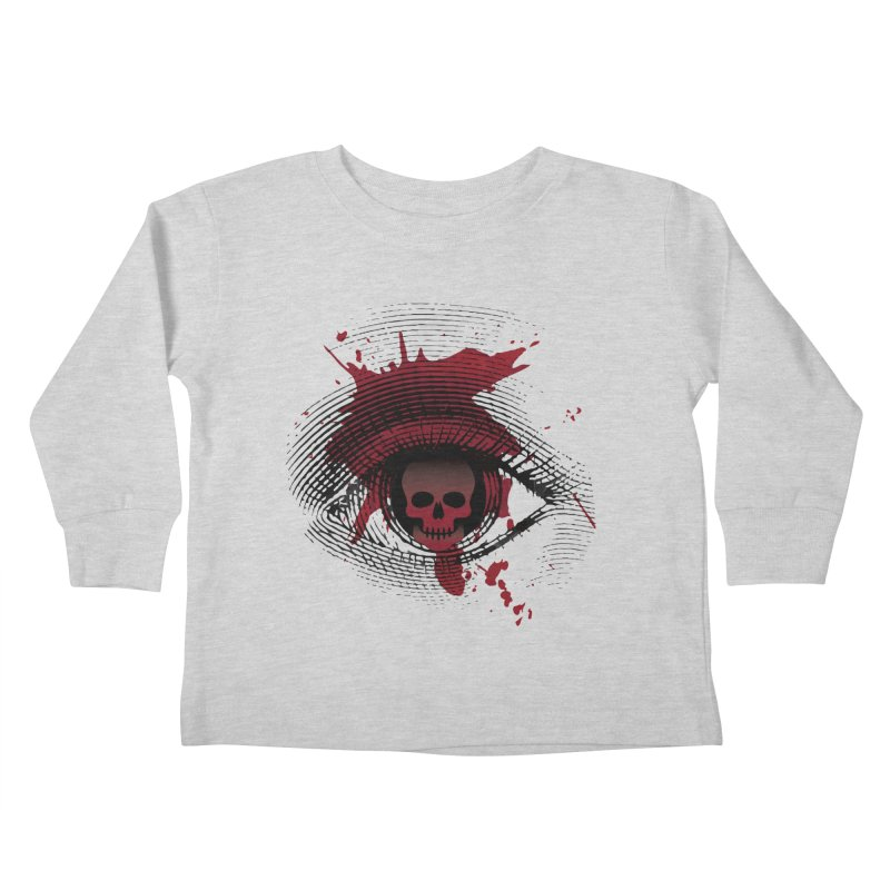 Isolated Blood Shot Eye for an Eye Logo Kids Toddler Longsleeve T-Shirt by Eye for an Eye Merch Shop