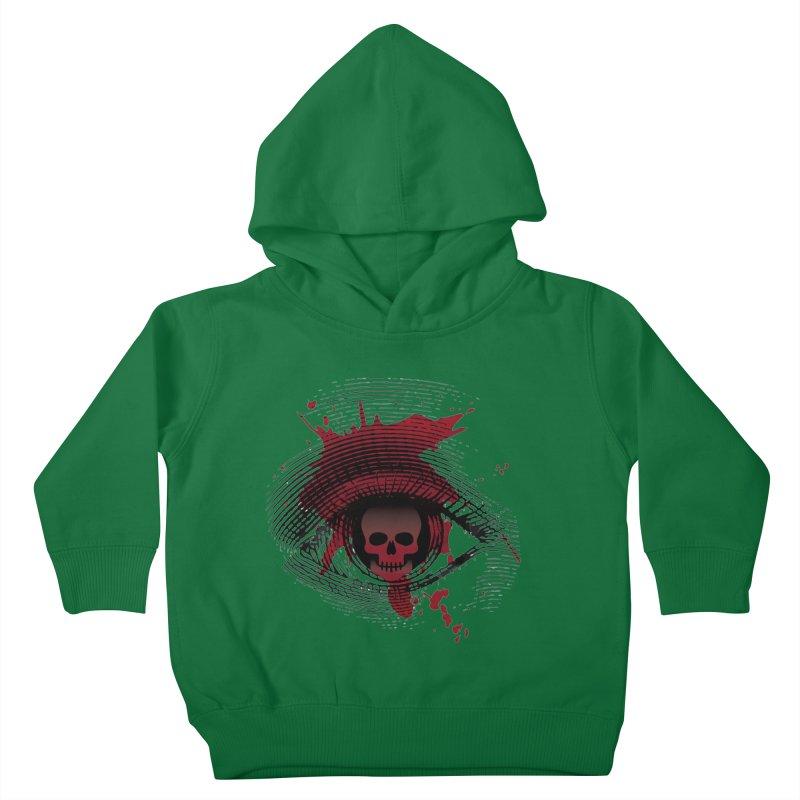 Isolated Blood Shot Eye for an Eye Logo Kids Toddler Pullover Hoody by Eye for an Eye Merch Shop