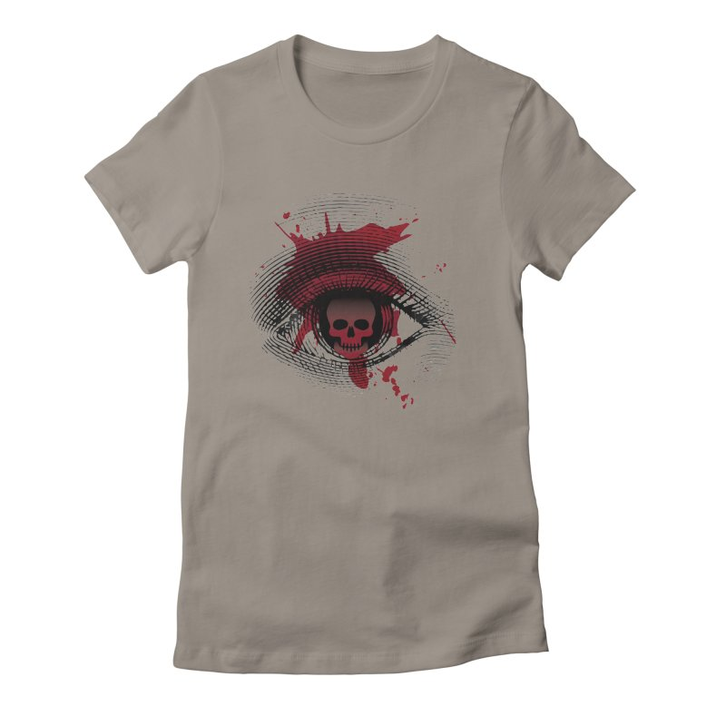Isolated Blood Shot Eye for an Eye Logo Women's Fitted T-Shirt by Eye for an Eye Merch Shop