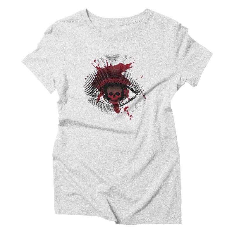 Isolated Blood Shot Eye for an Eye Logo Women's Triblend T-Shirt by Eye for an Eye Merch Shop