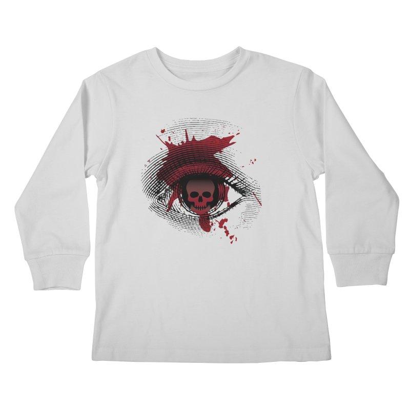 Isolated Blood Shot Eye for an Eye Logo Kids Longsleeve T-Shirt by Eye for an Eye Merch Shop