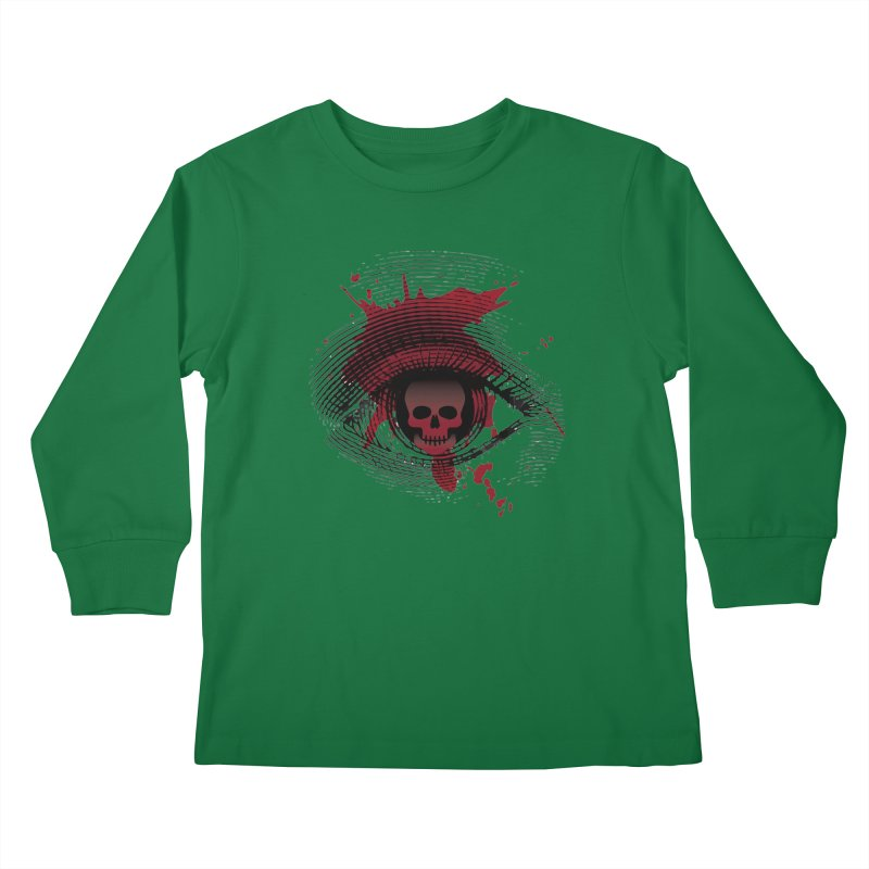 Isolated Blood Shot Eye for an Eye Logo Kids Longsleeve T-Shirt by Eye for an Eye Merch Shop