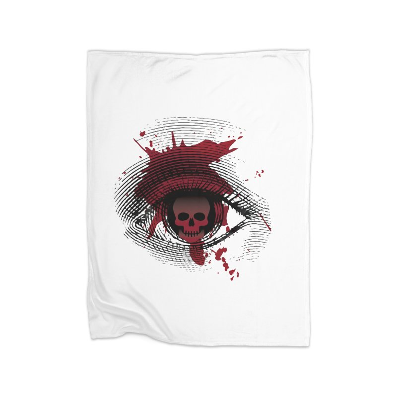 Isolated Blood Shot Eye for an Eye Logo Home Fleece Blanket Blanket by Eye for an Eye Merch Shop