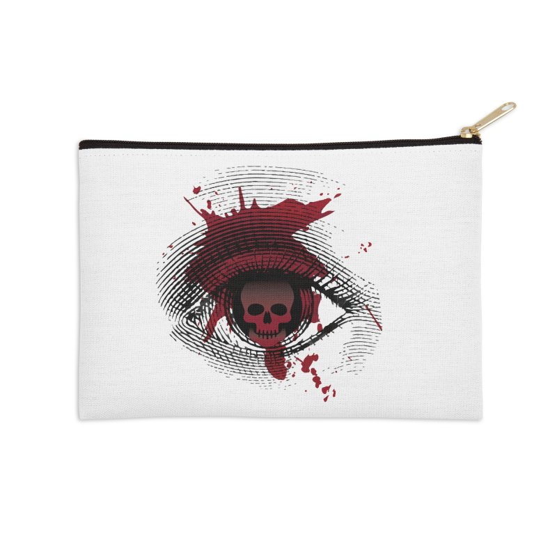 Isolated Blood Shot Eye for an Eye Logo Accessories Zip Pouch by Eye for an Eye Merch Shop
