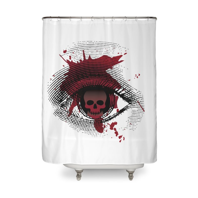 Isolated Blood Shot Eye for an Eye Logo Home Shower Curtain by Eye for an Eye Merch Shop