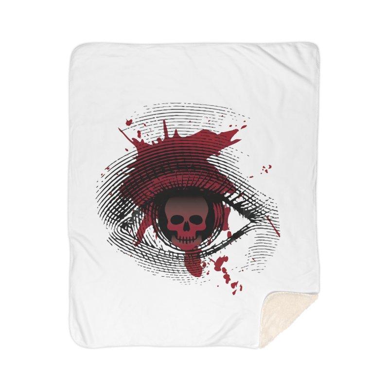 Isolated Blood Shot Eye for an Eye Logo Home Sherpa Blanket Blanket by Eye for an Eye Merch Shop