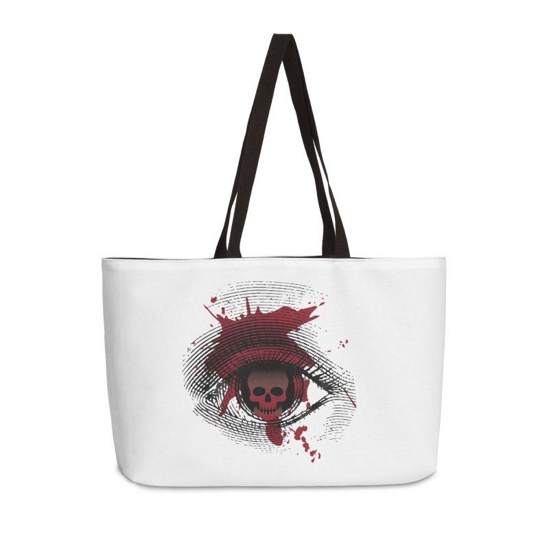 Isolated Blood Shot Eye for an Eye Logo Accessories Weekender Bag Bag by Eye for an Eye Merch Shop
