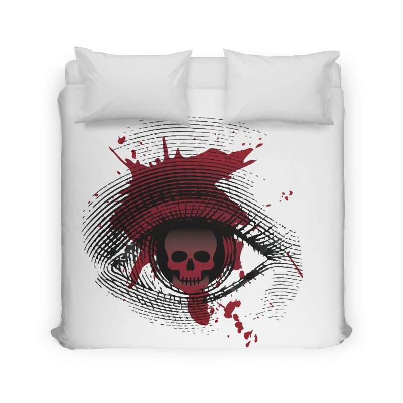 Isolated Blood Shot Eye for an Eye Logo Home Duvet by Eye for an Eye Merch Shop