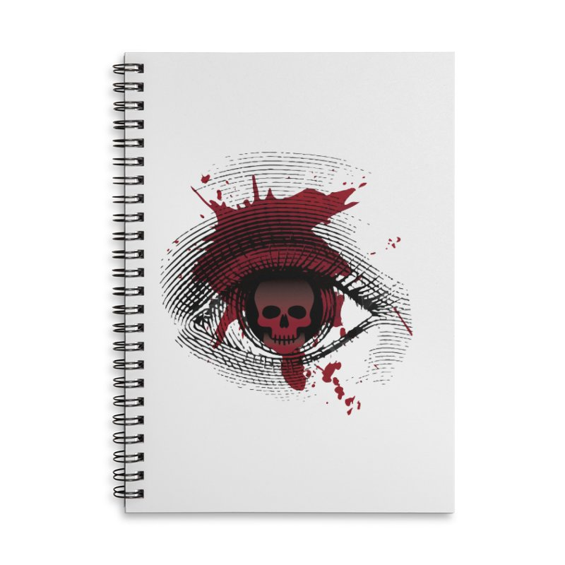 Isolated Blood Shot Eye for an Eye Logo Accessories Lined Spiral Notebook by Eye for an Eye Merch Shop