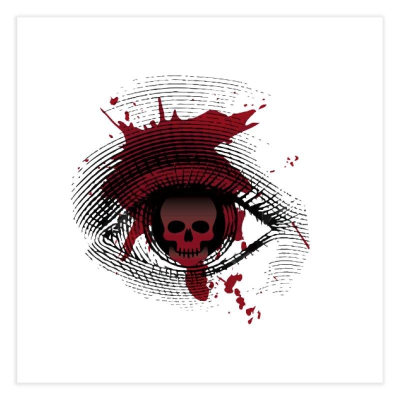 Isolated Blood Shot Eye for an Eye Logo Home Fine Art Print by Eye for an Eye Merch Shop