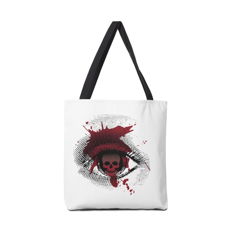 Isolated Blood Shot Eye for an Eye Logo Accessories Bag by Eye for an Eye Merch Shop