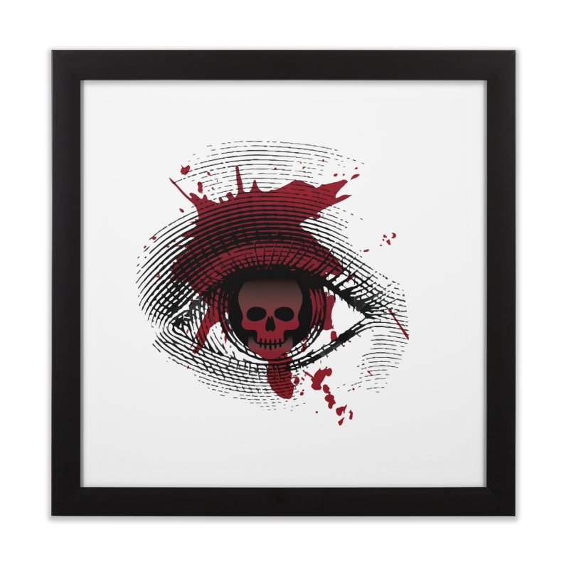Isolated Blood Shot Eye for an Eye Logo Home Framed Fine Art Print by Eye for an Eye Merch Shop
