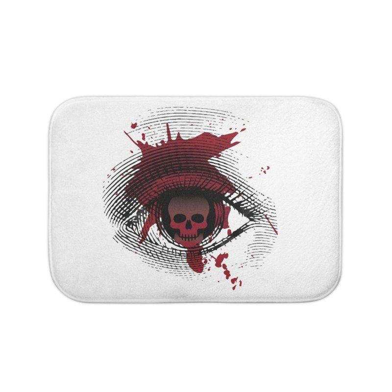 Isolated Blood Shot Eye for an Eye Logo Home Bath Mat by Eye for an Eye Merch Shop
