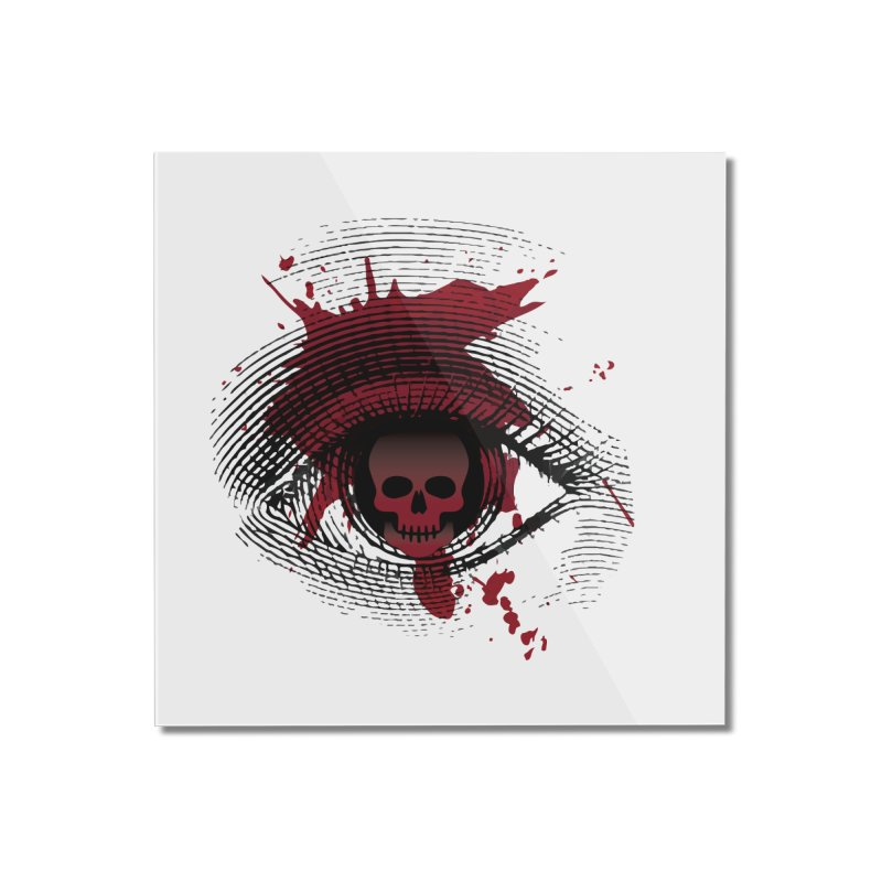 Isolated Blood Shot Eye for an Eye Logo Home Mounted Acrylic Print by Eye for an Eye Merch Shop