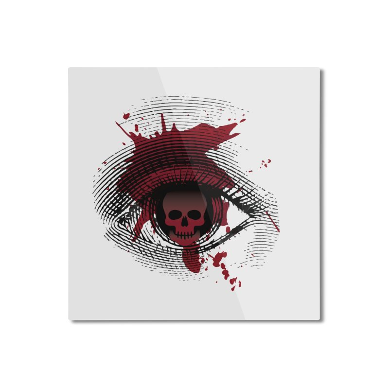 Isolated Blood Shot Eye for an Eye Logo Home Mounted Aluminum Print by Eye for an Eye Merch Shop