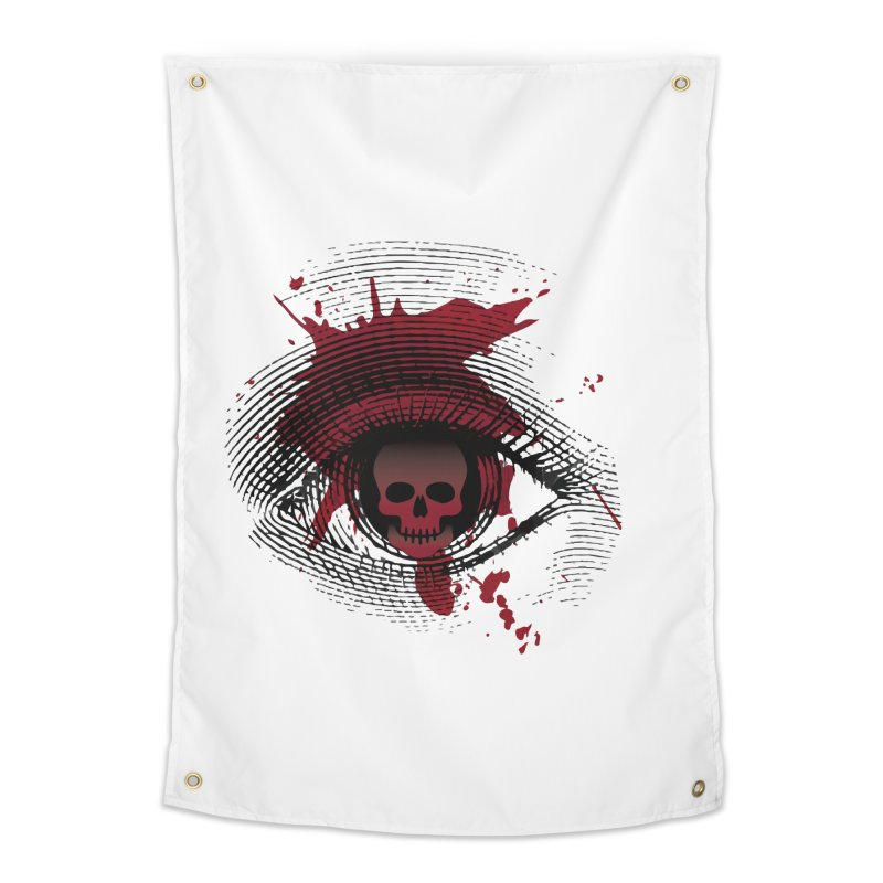Isolated Blood Shot Eye for an Eye Logo Home Tapestry by Eye for an Eye Merch Shop
