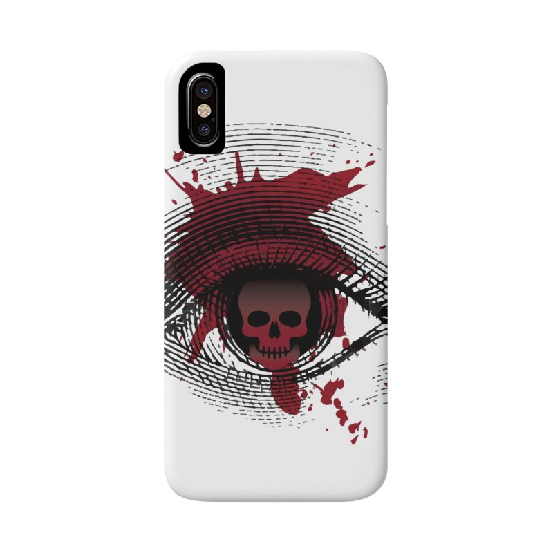 Isolated Blood Shot Eye for an Eye Logo Accessories Phone Case by Eye for an Eye Merch Shop