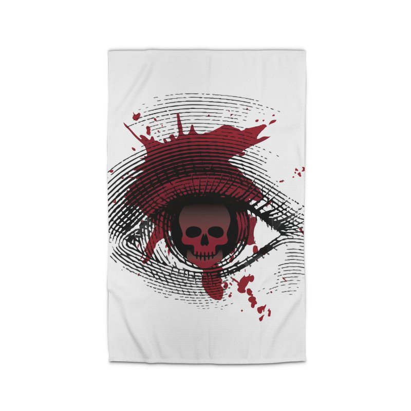 Isolated Blood Shot Eye for an Eye Logo Home Rug by Eye for an Eye Merch Shop