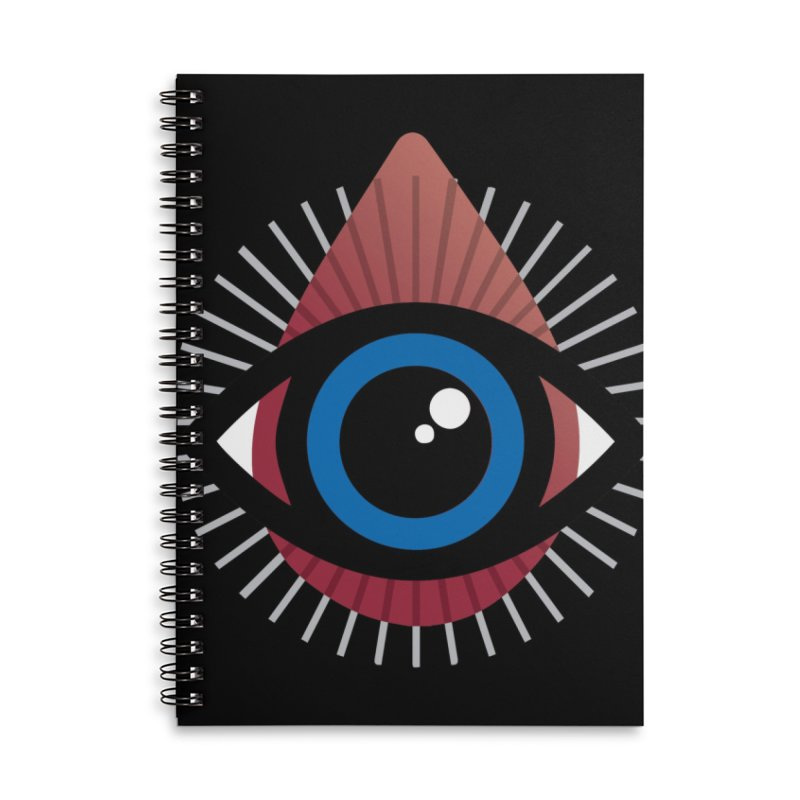 Isolated Tribal Eye for an Eye Accessories Lined Spiral Notebook by Eye for an Eye Merch Shop