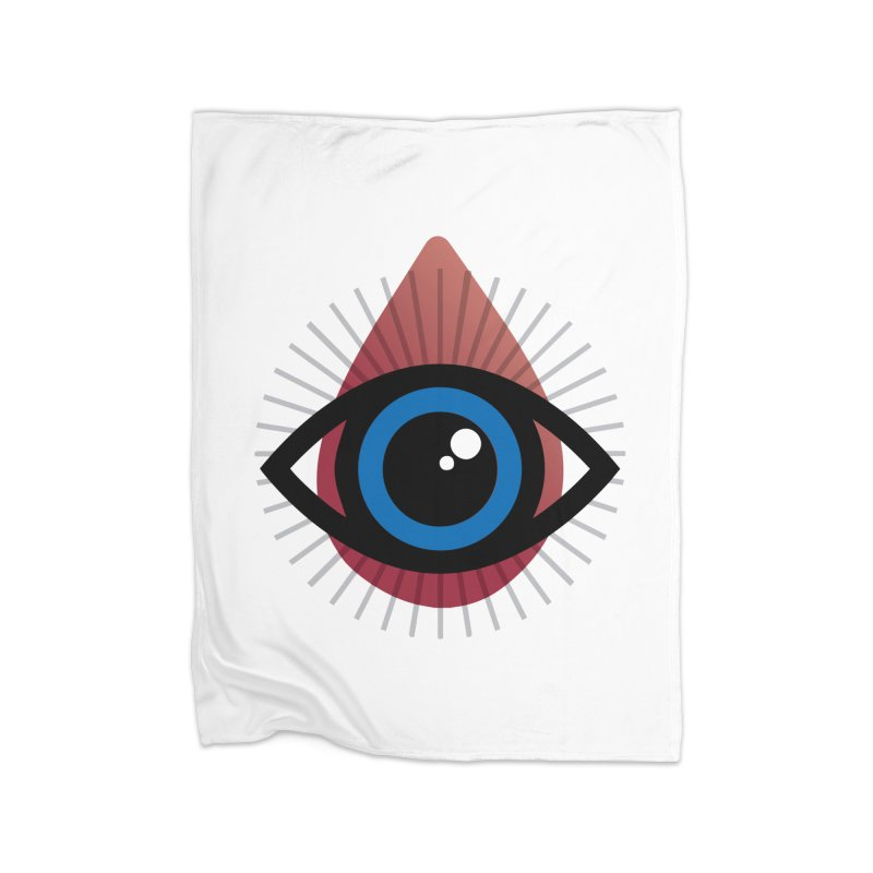 Isolated Tribal Eye for an Eye Home Fleece Blanket Blanket by Eye for an Eye Merch Shop