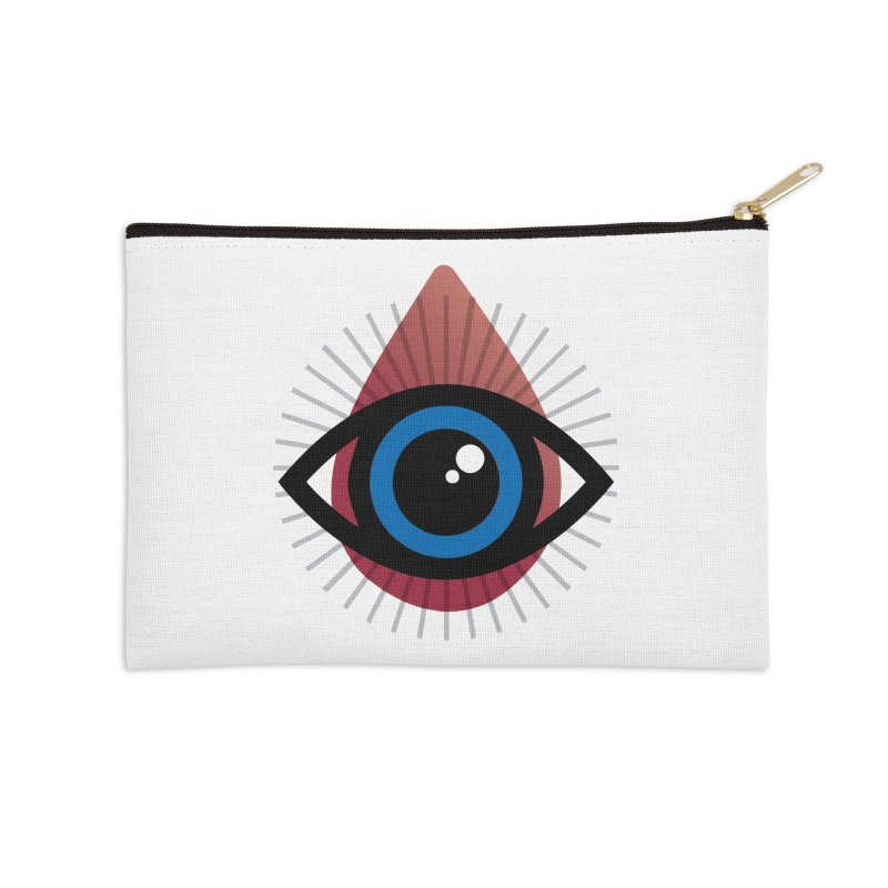 Isolated Tribal Eye for an Eye Accessories Zip Pouch by Eye for an Eye Merch Shop