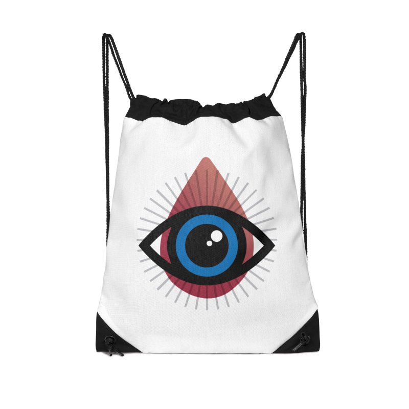 Isolated Tribal Eye for an Eye Accessories Drawstring Bag Bag by Eye for an Eye Merch Shop