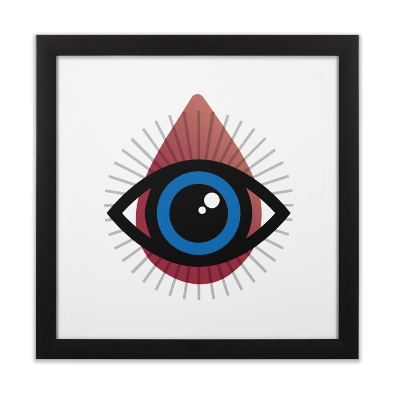 Isolated Tribal Eye for an Eye Home Framed Fine Art Print by Eye for an Eye Merch Shop