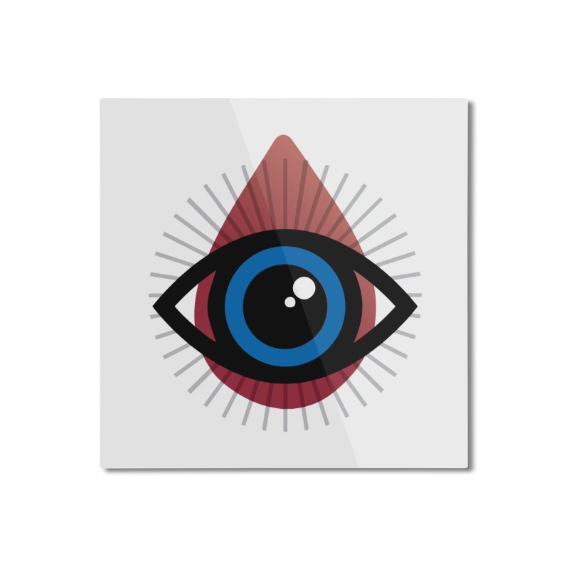 Isolated Tribal Eye for an Eye Home Mounted Aluminum Print by Eye for an Eye Merch Shop