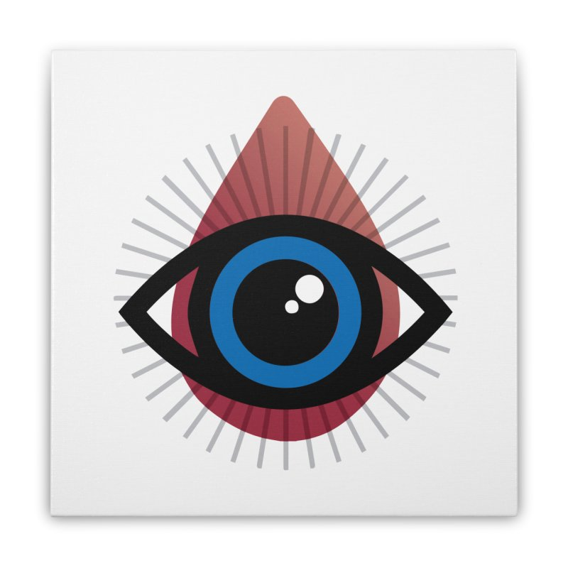 Isolated Tribal Eye for an Eye Home Stretched Canvas by Eye for an Eye Merch Shop
