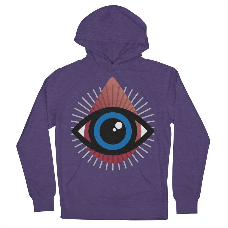 Isolated Tribal Eye for an Eye Men's French Terry Pullover Hoody by Eye for an Eye Merch Shop