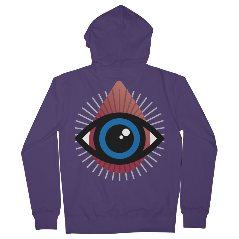 Isolated Tribal Eye for an Eye Women's French Terry Zip-Up Hoody by Eye for an Eye Merch Shop