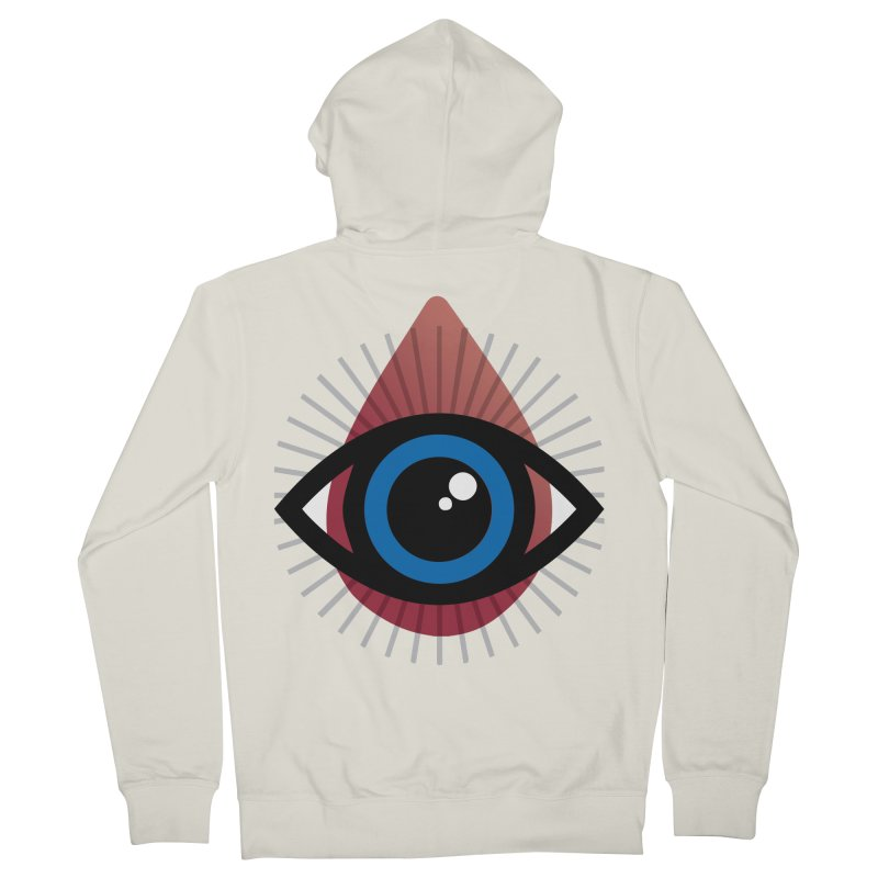 Isolated Tribal Eye for an Eye Men's French Terry Zip-Up Hoody by Eye for an Eye Merch Shop
