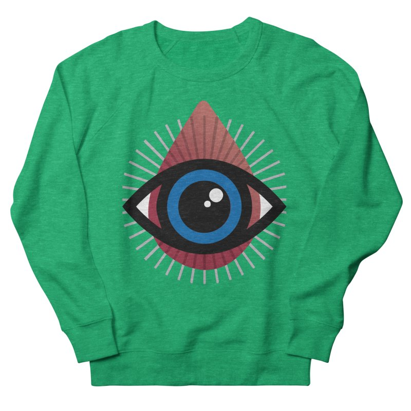 Isolated Tribal Eye for an Eye Women's French Terry Sweatshirt by Eye for an Eye Merch Shop
