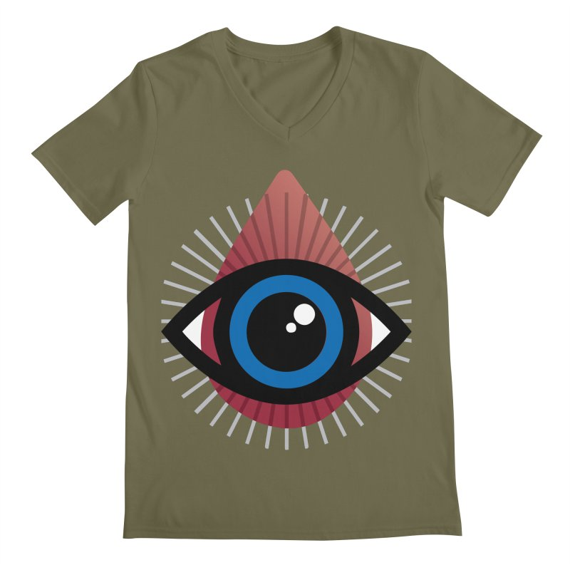 Isolated Tribal Eye for an Eye Men's Regular V-Neck by Eye for an Eye Merch Shop