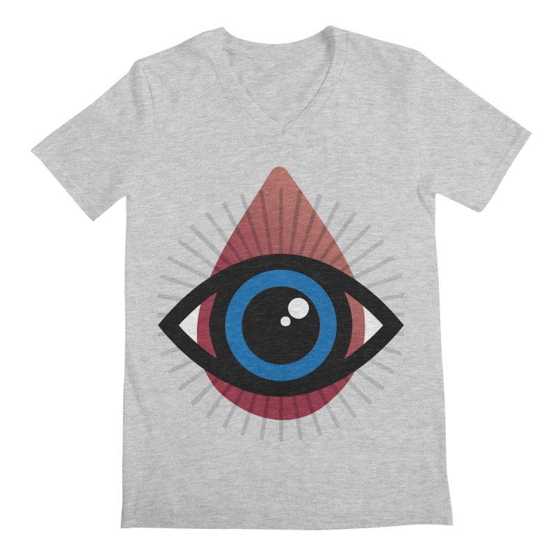 Isolated Tribal Eye for an Eye Men's Regular V-Neck by Eye for an Eye Merch Shop
