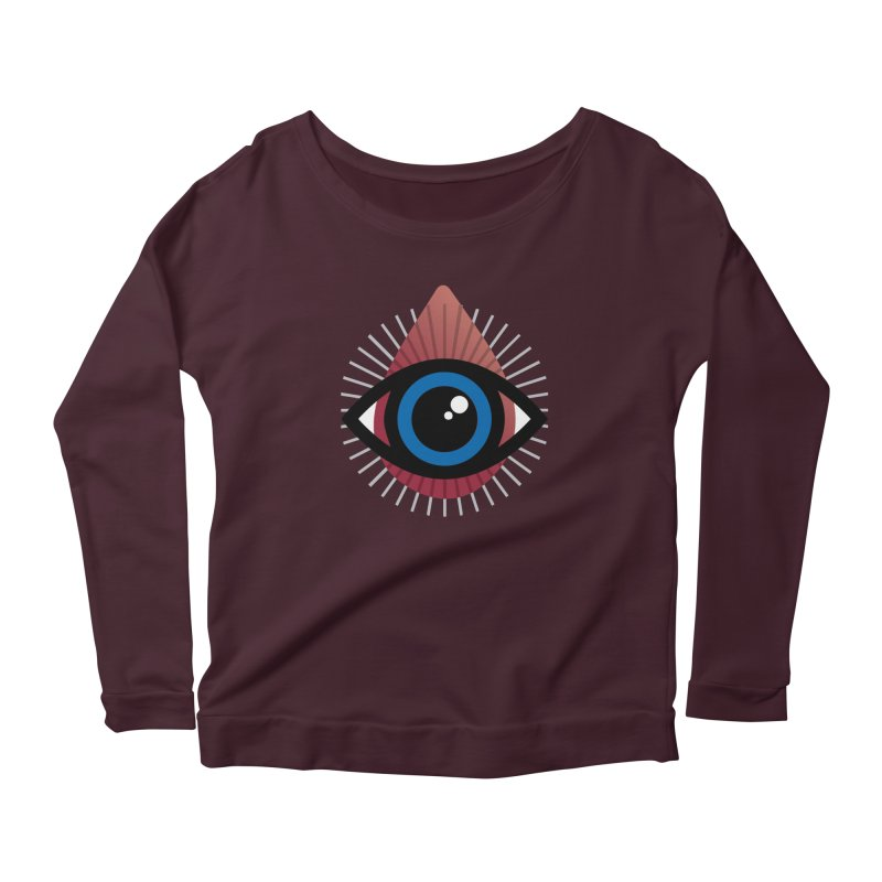 Isolated Tribal Eye for an Eye Women's Scoop Neck Longsleeve T-Shirt by Eye for an Eye Merch Shop